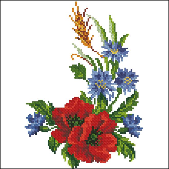 Букет полевых цветов высокого 70