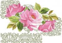 Розы с орнаментом