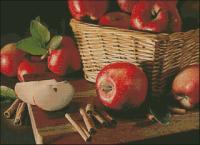 Яблоки с корицей