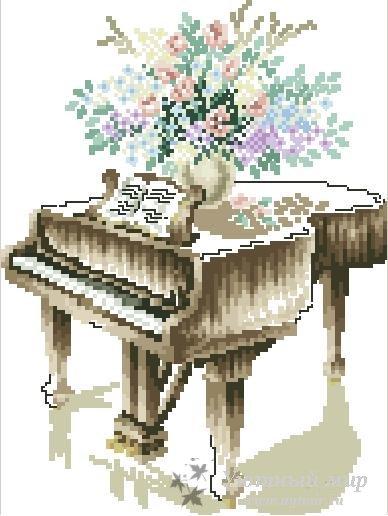 Схема для вышивки пианино