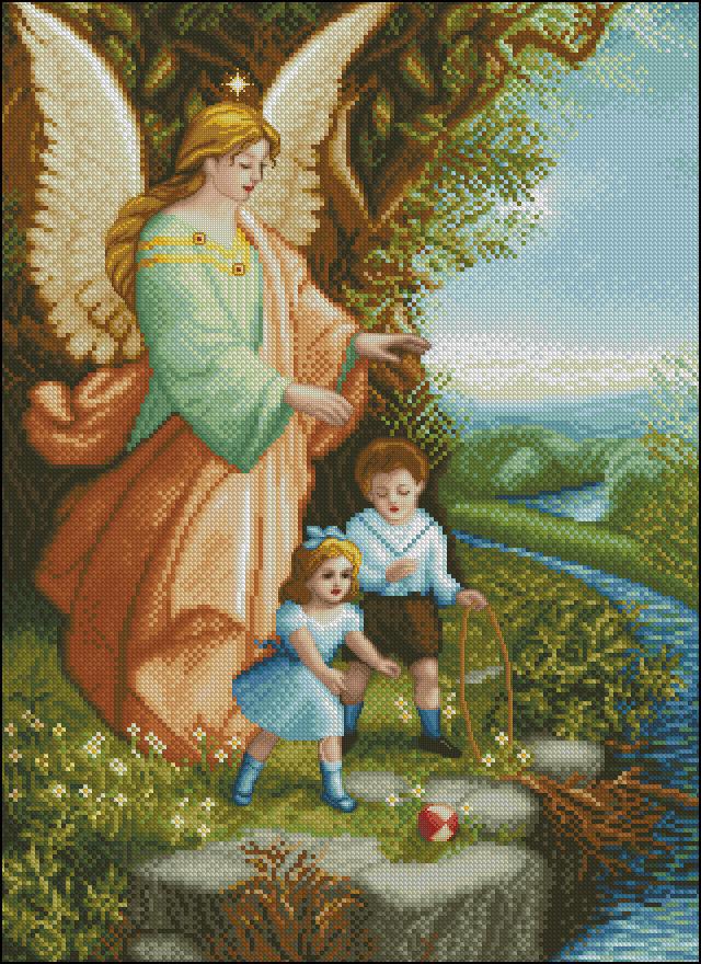 Скачать схему вышивки ангел-хранитель