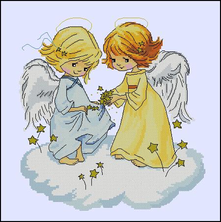 Вышивка девочки ангелочка