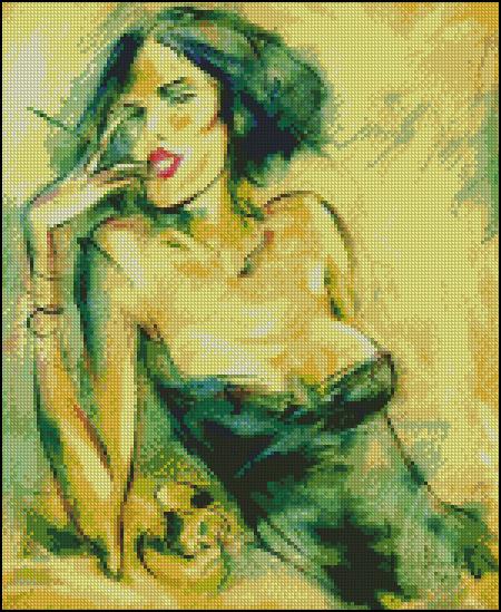 Девушка в дыму 1