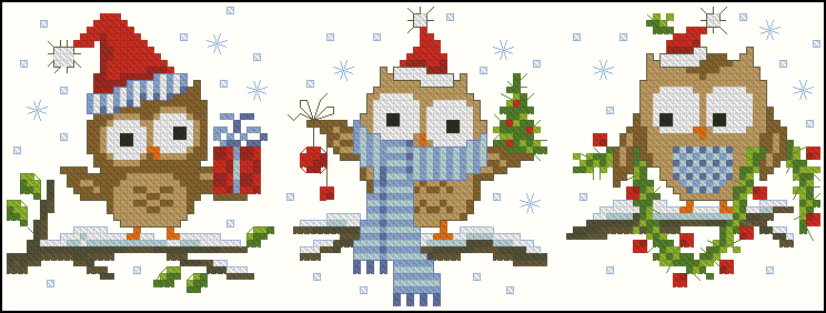 Christmas Littles Owls