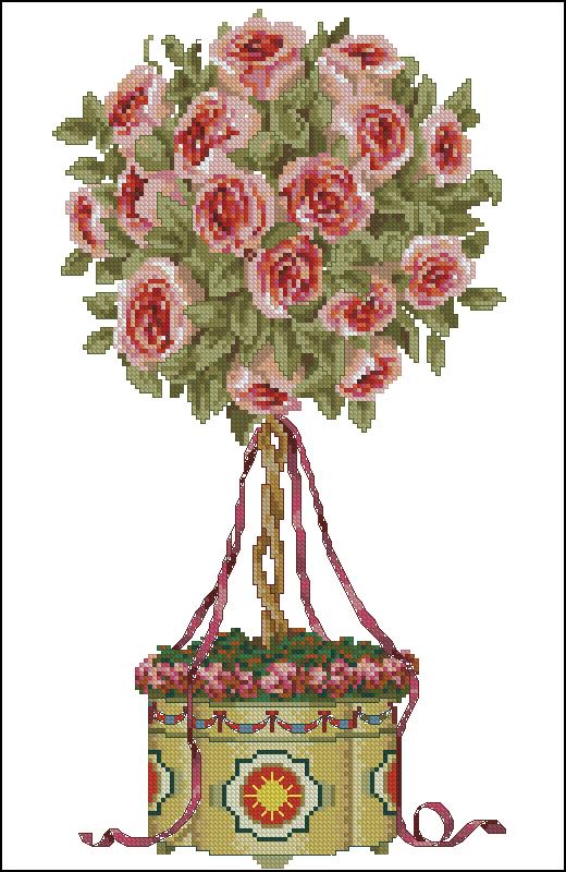 Topiary вышивка схемы