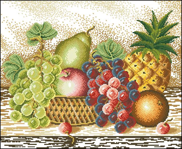 Натюрморт с фруктами и ягодами схемы