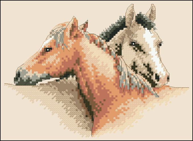 Вышивка лошадь маленькая 88