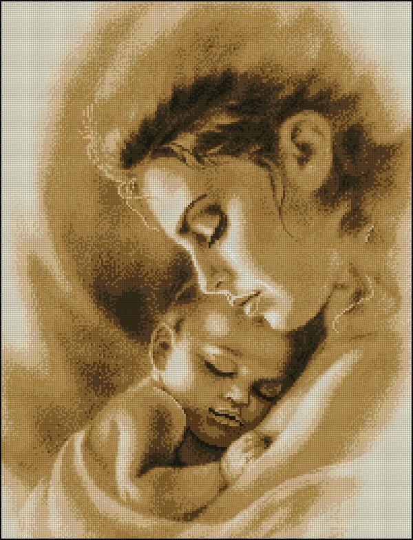 Набор вышивки мать и дитя