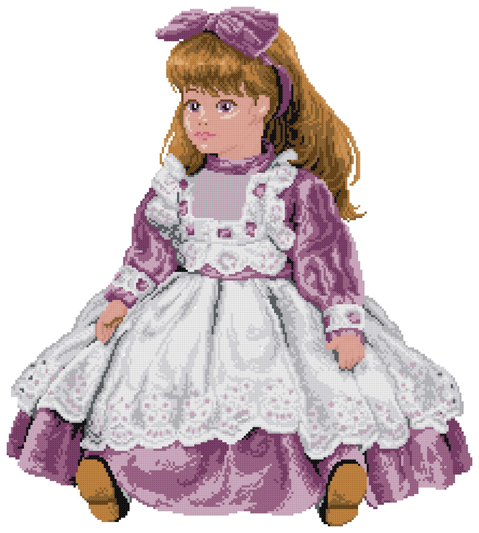Вышивка куклы вервако