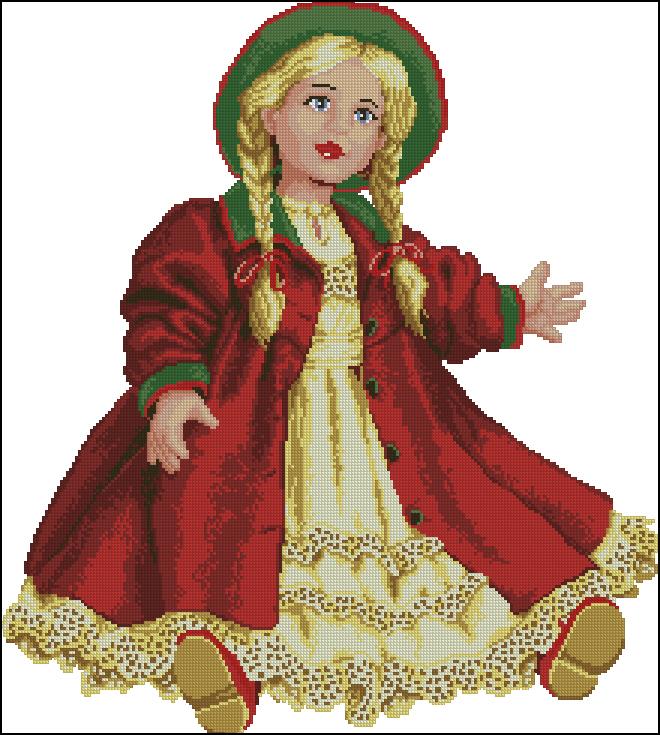 Кукла вервако вышивка крестом