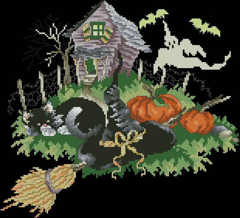 Вышивка dimensions хэллоуин 37