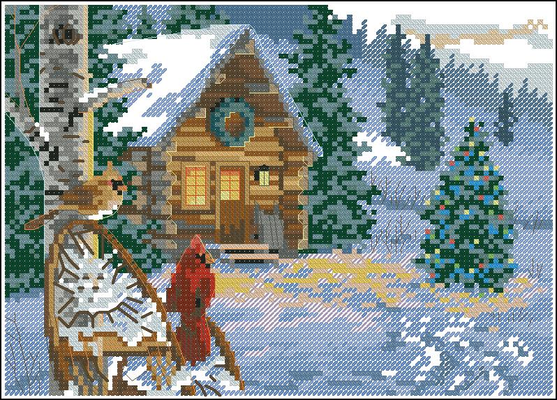Вышивка пейзажей крестом фото