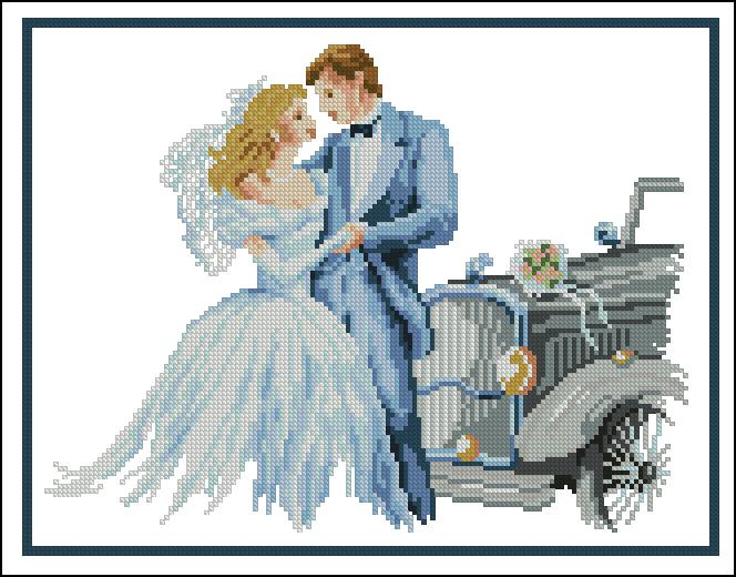 Жених и невеста для вышивки крестом