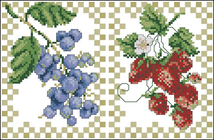 Ягоды схема вышивки крестиком