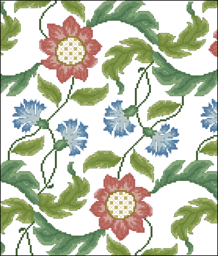 Вышивка цветочные мотивы 45