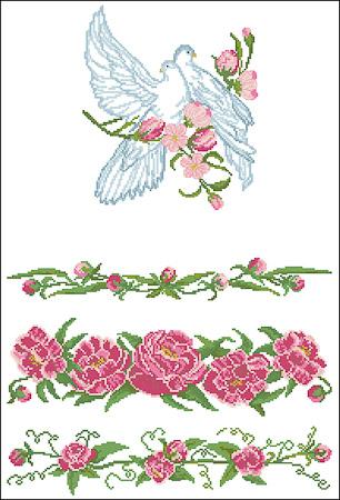 Рушник с голубями