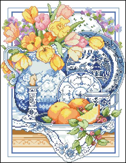 Схемы вышивки крестом натюрморты для кухни 24