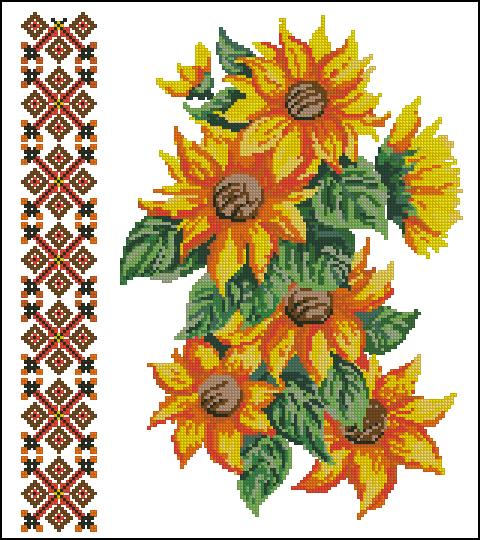 """Сорочка жіноча """"Квіти сонця"""""""