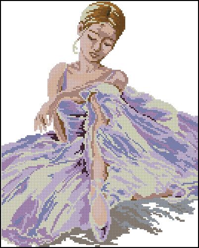 Вышивка скачать бесплатно схема балерина