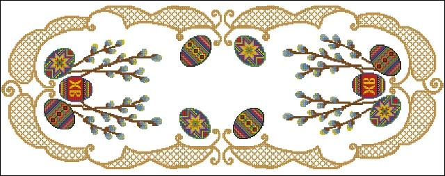 Схема вишивки доріжок