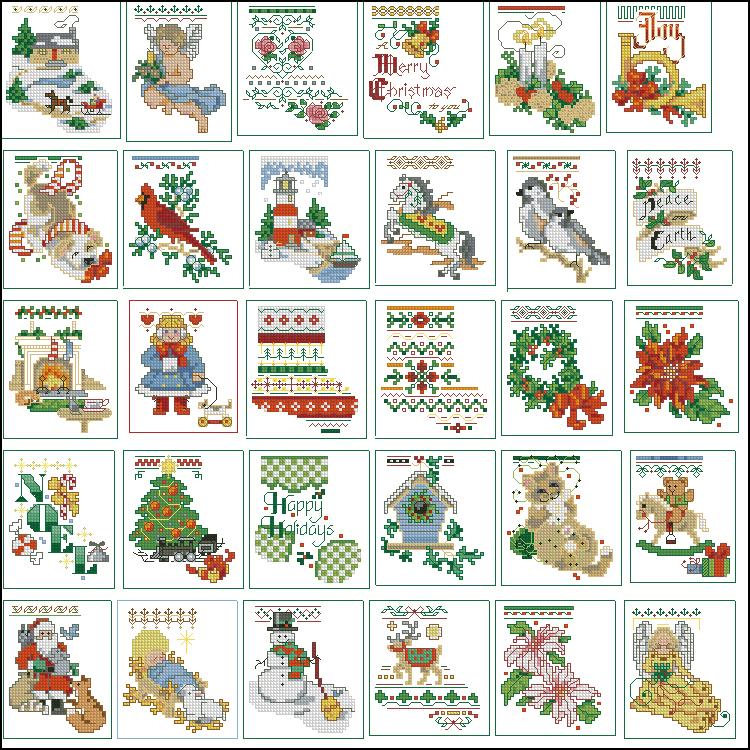 Схема вышивки новогоднего сапожка 67