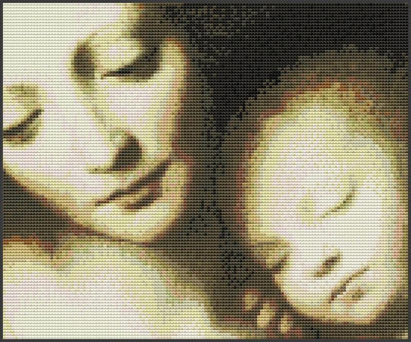Скачать схема вышивки мадонна с младенцем