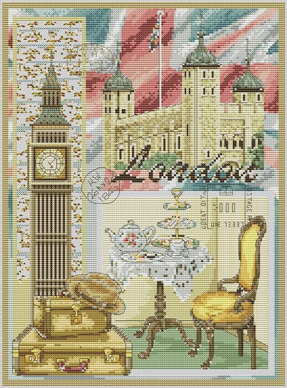 Лондон схема для вышивки 24