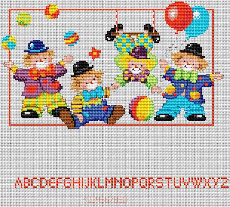 Clowns Birthsampler