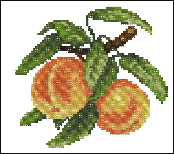 Вышивка крестом бесплатные схемы персик