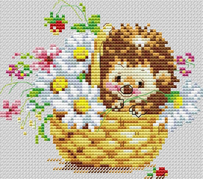 Алиса медведь вышивка