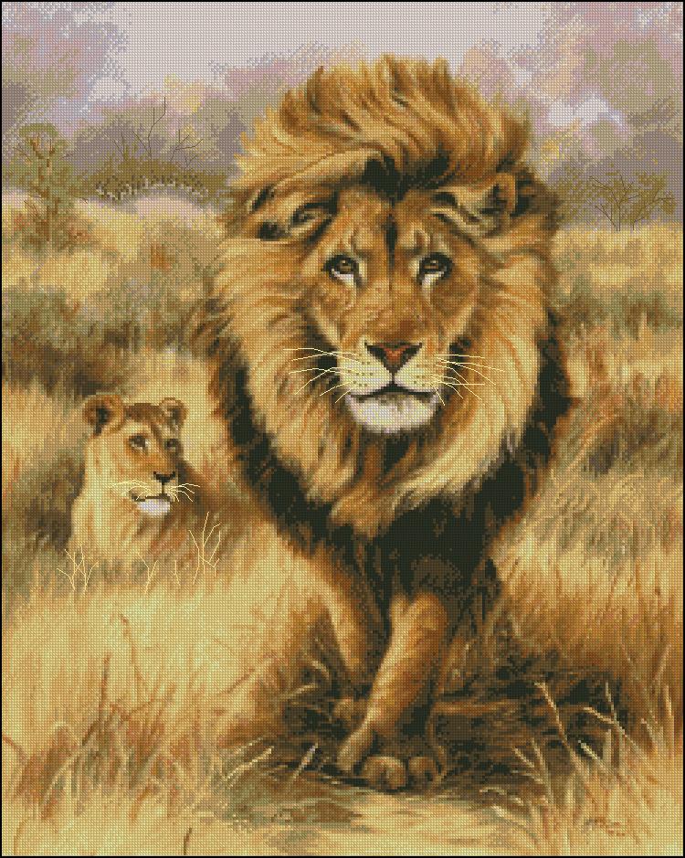 Скачать схему для вышивки лев бесплатно