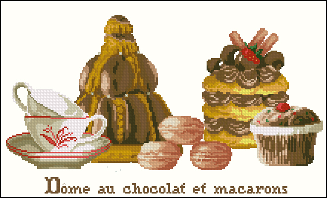 Chocolate Dome and Macaroon
