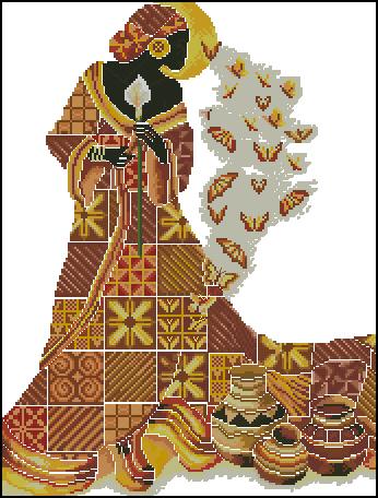 Вышивка крестом на африканские мотивы