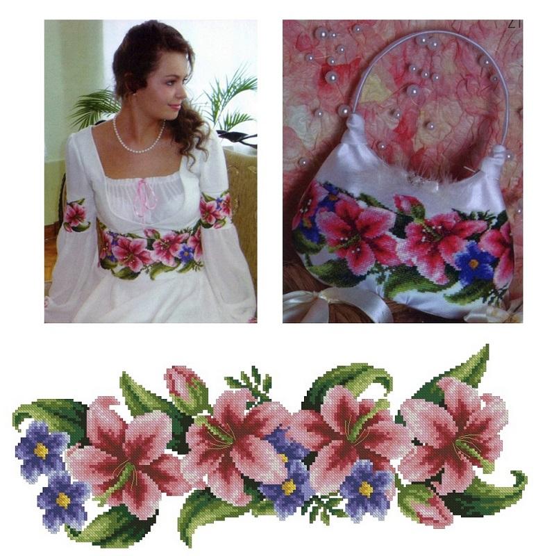 Схема для вышивки блузки,