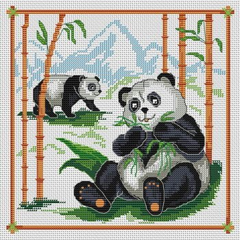 Pandas et eucalyptus