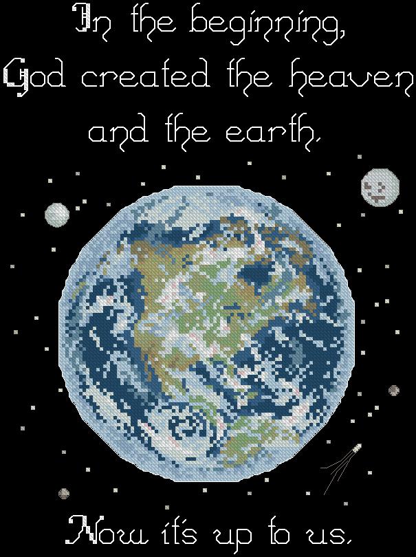 Схема вышивок крестом планета