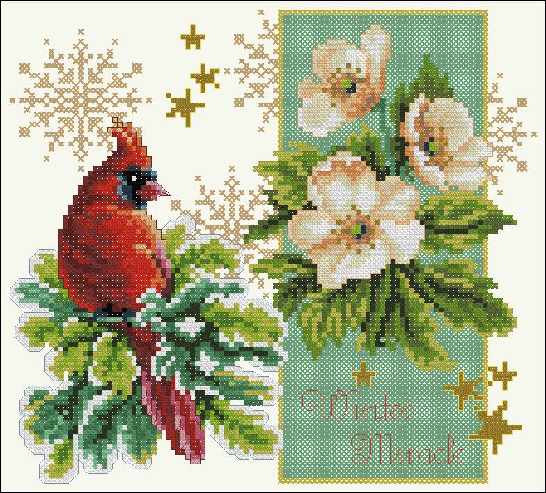 Вышивка крестом открытка на новый год