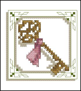 Схемы вышивки домов с ключами