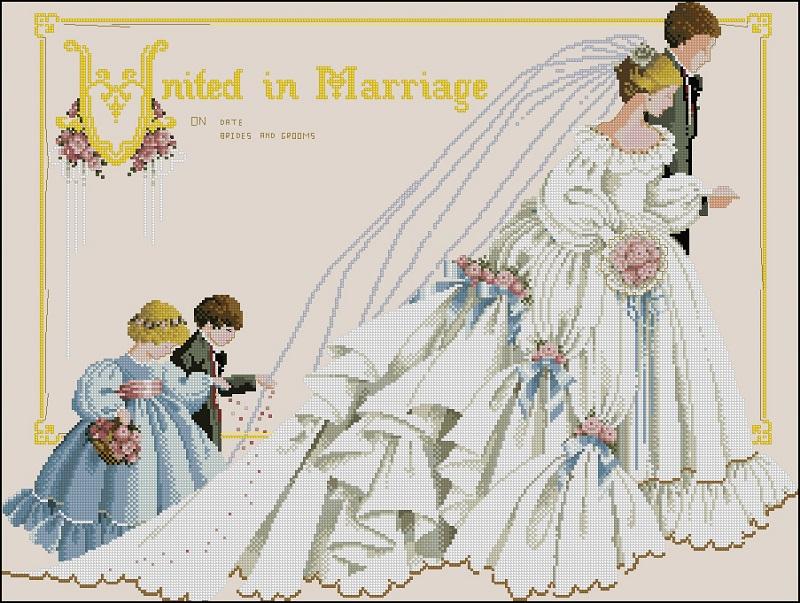Вышивка схемы wedding