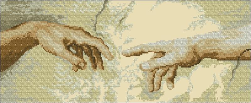 Две руки схема вышивки