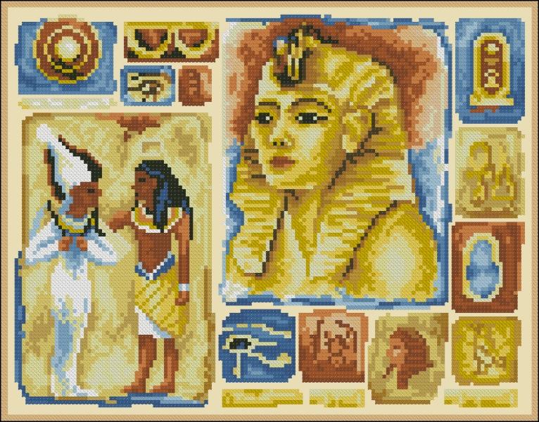 Египетский коллаж