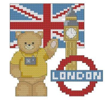 Схема для вышивки лондонский автобус 33