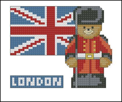 Схема для вышивки лондонский автобус 41