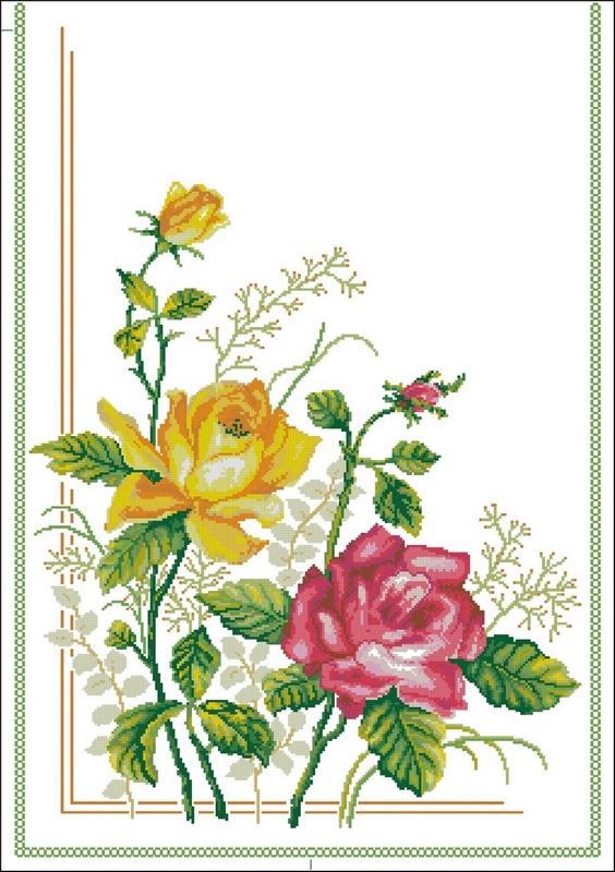 Розы (узор для дорожки)