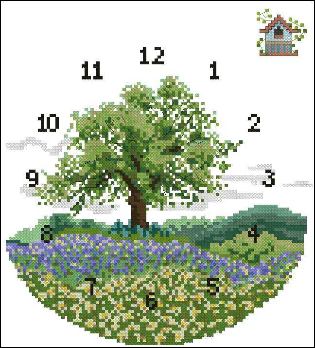 """Часы """"Пейзаж"""""""