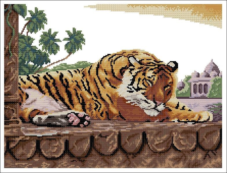Значение тигра в вышивке 302