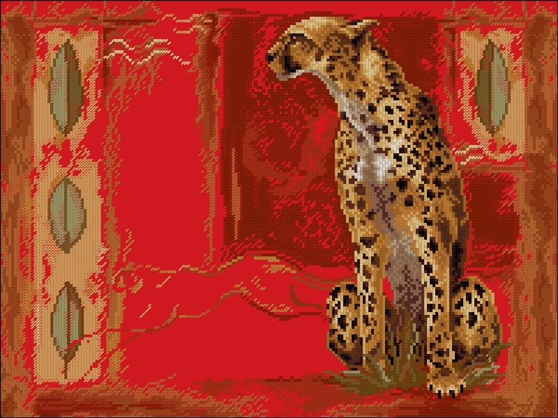 Вышивка крестом гепарды