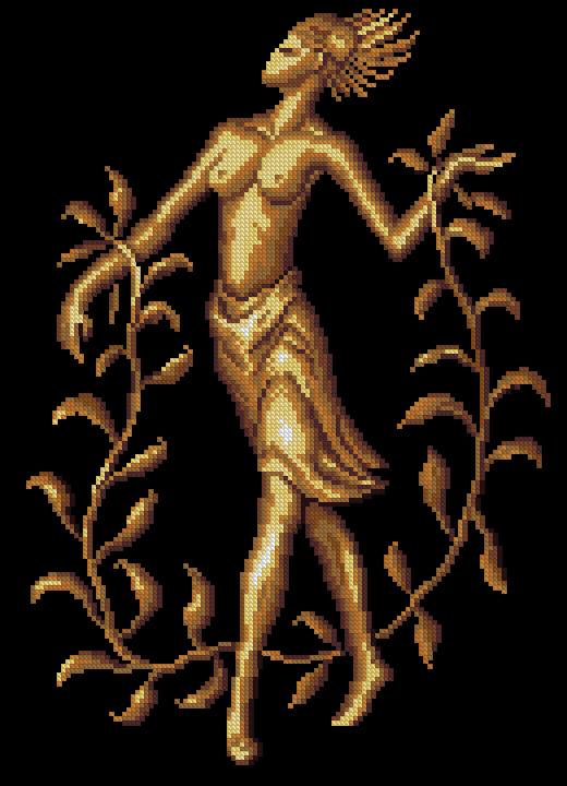 Добавить. Артикул: зм-014. Золотое руно. Техника: Счетный Крест.