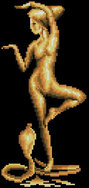 Девушка с коброй