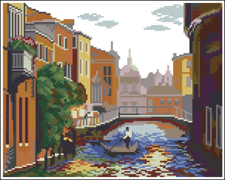 Схемы вышивка венеция скачать